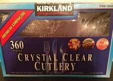 New 360 Piece Kirkland Clear Disposable Cutlery Plasticware Forks Spoons Knives