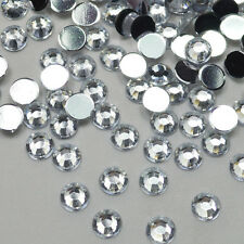 1000 Crystal Flat Back Rhinestones Diamond Gems Acrylic many sizes & colours