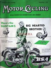 Sep 9 1954 B.S.A '150cc Bantam Major' Motor Cycle ADVERT - Magazine Cover Print