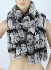 Real Rex Rabbit Fur Women Scarf Wrap Cape Shawl Scarves Winter Scarf Stole