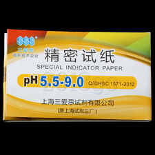 1 X 80 strips PH 5.5-9.0 Test Indicator Paper Water / Soil / Urine / Saliva CG