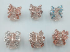 HOT 1pcs butterfly claw Crystal alloy Rhinestone Hair Clip Jaw Hairpin *7