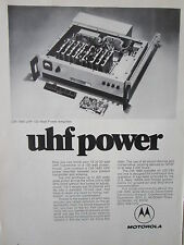 1/1973 PUB MOTOROLA ELECTRONICS CM1680 UHF 100 WATT POWER AMPLIFIER ORIGINAL AD