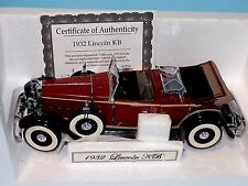 Lincoln KB Convertible Top Down 1932  MOTOR CITY 76009 1:18