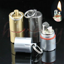 Novelty Mini Gear Fire Flint Wick Kerosene Cigarette Cigar Lighter Keychain