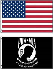 Wholesale LOT 3' X 5' USA & Pow Mia You are Never Forgotten FLAG Banner 3X5