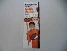 advertising Pubblicità 1971 BISCOTTI CONGO' SAIWA