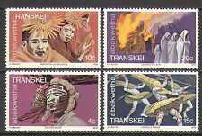 Transkei 1979 Dance/Fire/Flame/Tribal Customs 4v set (n22731)