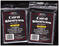 200 BCW Baseball Football Basketball Hockey Trading Card Plastic Sleeves New