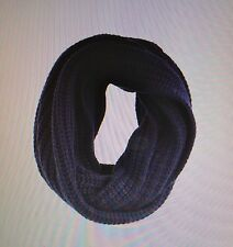 NWT J Crew Women's Chunky Ribbed Infinity Scarf Navy Cashmere Blend