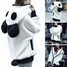 Women Winter Warm Fleece Hoodie Panda Bear Jacket Coat Casual Hooded Outwear NEW