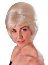 TWO COLOURS BEEHIVE WIG BLONDE BLACK WIG FANCY DRESS ACCESSORY