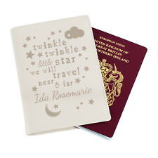 Personalised BABY PASSPORT COVER - Passport Holder - Genuine Leather