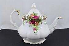 ROYAL ALBERT CHINA OLD COUNTRY ROSES LARGE TEAPOT & LID - MINT