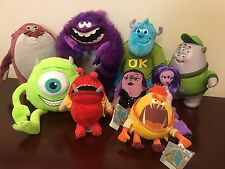 Disney Pixar Monsters Inc University Jox Plush SOUND Lot of 9 some New