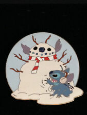 Disney Auctions Lilo & Stitch Christmas Holiday Snowman Pin LE 100