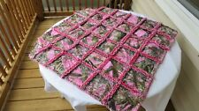pink true timber camo baby blanket rag quilt camouflage country hunting redneck