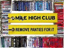 Mile High Club fun tag keychain keyring Remove Panties For It