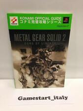 METAL GEAR SOLID 2 SONS OF LIBERTY JAP VERSION GUIDE (GUIDA STRATEGICA)