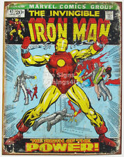 The Invincible Iron Man Retro Vtg Comic Cover metal poster TIN SIGN marvel 1969