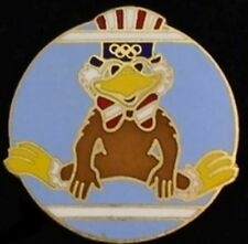 Gymnastics Olympic Pin Badge~Uneven Parallel Bars~1984~Los Angeles~Sam the Eagle