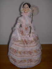 Rare Ann Parker English Costume Doll, Victorian Lady, Made in England