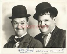 Laurel and Hardy Autographed 8X10 Signed Photo Reprint