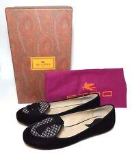 ETRO Milano Women Velvet Tassel Flat Loafer Woven Sz 36 Made in ITALY BNIB