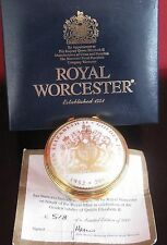 HM Queen Elizabeth II Golden Jubilee Trinket Box-Royal Worcester, Box, COA, LE