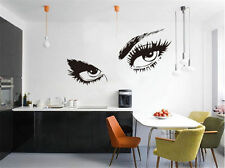 Sexy Beautiful Female Eye Big Eye Lashes Decor Wall Mural Vinyl Art Sticker