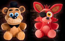 """2pcs FNAF Five Nights at Freddy's Sanshee Freddy & Foxy Plush Toy 18CM/7"""""""