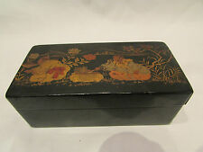 ancienne boite coffret papier maché carton bouilli decor japon napoleon III 19 e