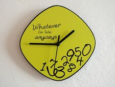 Whatever, I'm Late Anyways (Yellow) - Wall Clock
