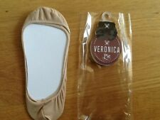 Veronica pie, Cotton Footie Liner Socks Ballerina  UK 3-7,padded forefoot