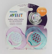 Philips Avent Free Flow Soother Twin Pack - Age 6-18m (Flowers) (2571)