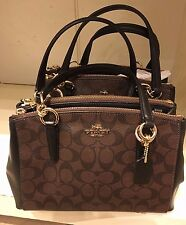 NWT Coach Mini Christie Carryall Handbag Satchel F58290 - Brown/ Black