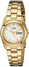 Citizen EQ0562-54A Women's Gold Tone Stainless Steel Day Date Analog Watch