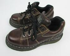 Doc Martens DM Dark Brown Leather Oxford US 7 Women's Tie Shoes Made in England