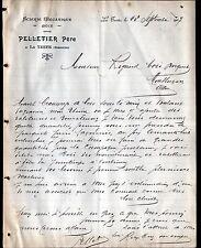 """LA TESTE (33) SCIERIE / BOIS """"PELLETIER Pére"""" en 1907"""