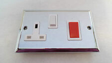 Cooker Switch & Socket Polished Chrome SAME AS B.G. RANGE BEVELLED EDGE