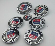 COMPLETE ALPINA BADGE WHEEL CENTRE CAPS SET FOR BMW 1 3 5 7 Z3 Z4 X3 SERIES