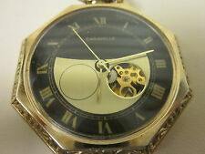VINTAGE CARAVELLE SWIIS MADE,17JEWELLS POCKET WATCH,GOLD PLATED