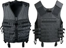 Black Military Police M.O.L.L.E Tactical MOLLE Modular Assault Vest 5403