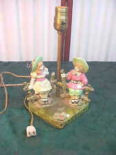 Adorable Vintage Colorful Girl Designed Table Lamp
