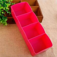 4 Cells Plastic Organizer Storage Box for Tie Bra Socks Drawer Cosmetic Divider