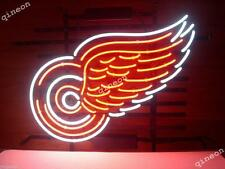 17X14 New DETROIT RED WINGS HOCKEY TOWN Real Neon Sign Beer Bar Light FAST SHIP