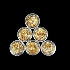 6x hoja de oro del clavo de DIY maquillaje Arte de acrílico Consejos S057-6