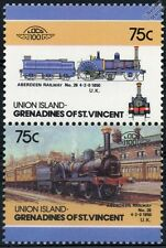 1850 Aberdeen Railway No.26 4-2-0 Train Stamps / LOCO 100