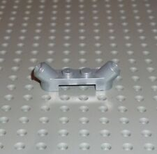LEGO - PLATE, Modified 1 x 4 with Angle Tube, PEARL LIGHT GREY x 3 (61072) PM224