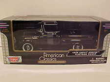1958 Chevy Apache Fleetside Pickup Truck Die-cast 1:24 Motormax 8 inch Black